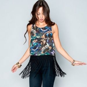 Show Me Your Mumu Butterfly Fringe Top Size Med